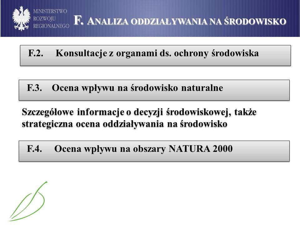 F. Analiza oddziaływania na środowisko