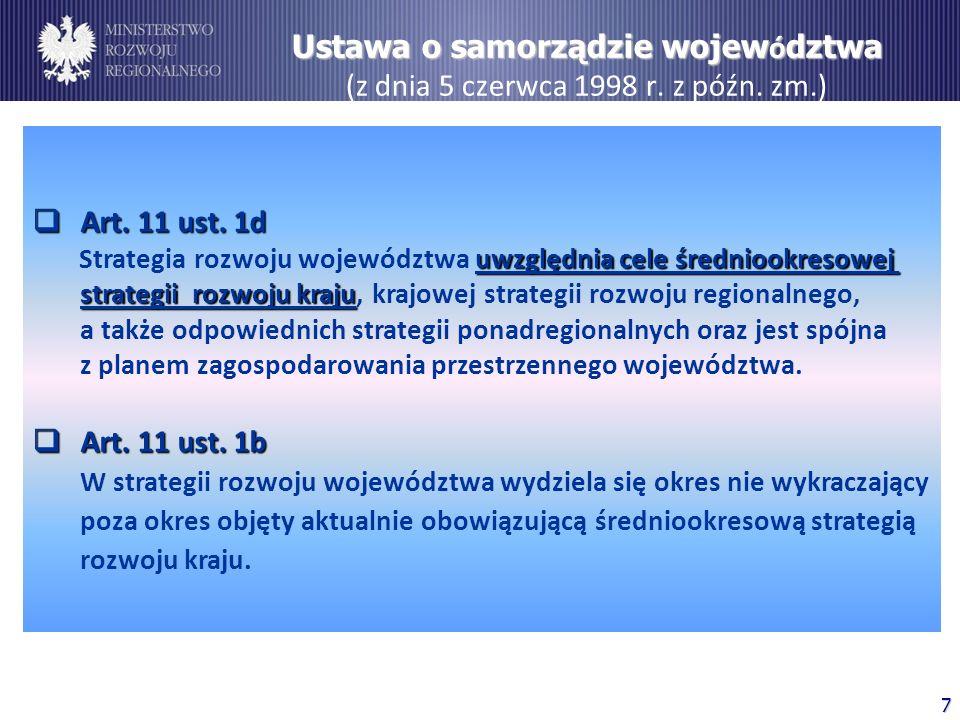 Ustawa o samorządzie województwa (z dnia 5 czerwca 1998 r. z późn. zm