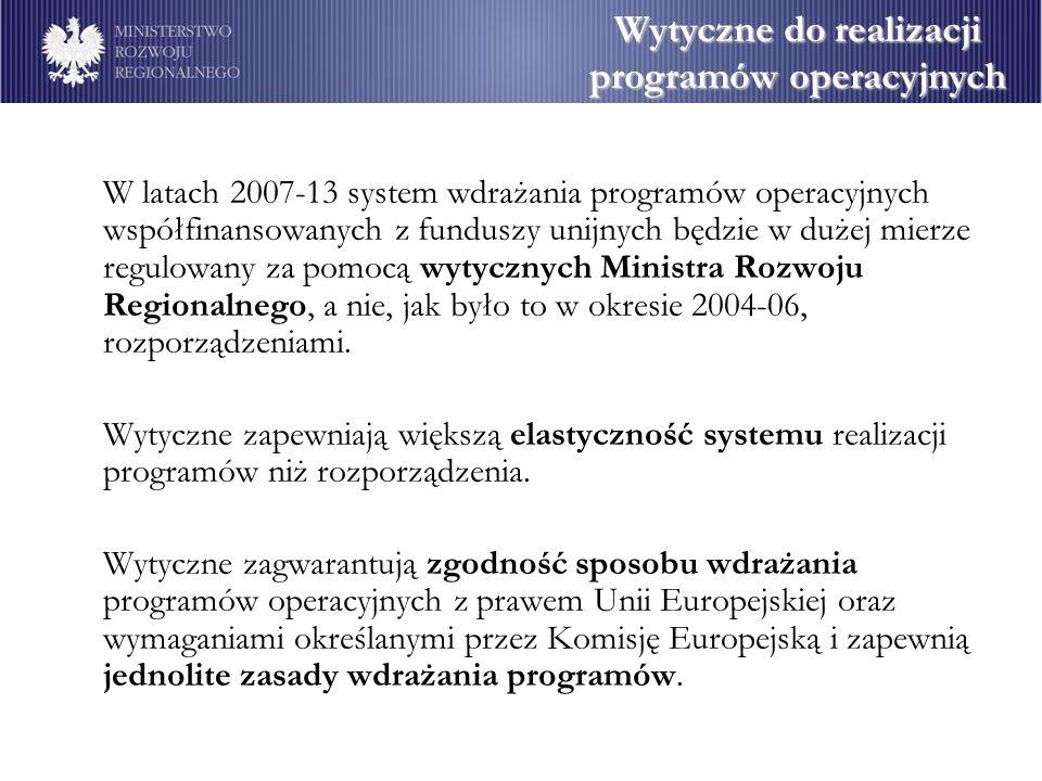 Wytyczne do realizacji programów operacyjnych