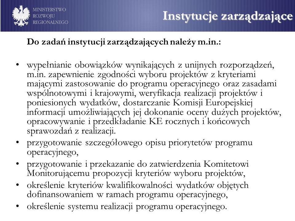 Instytucje zarządzające
