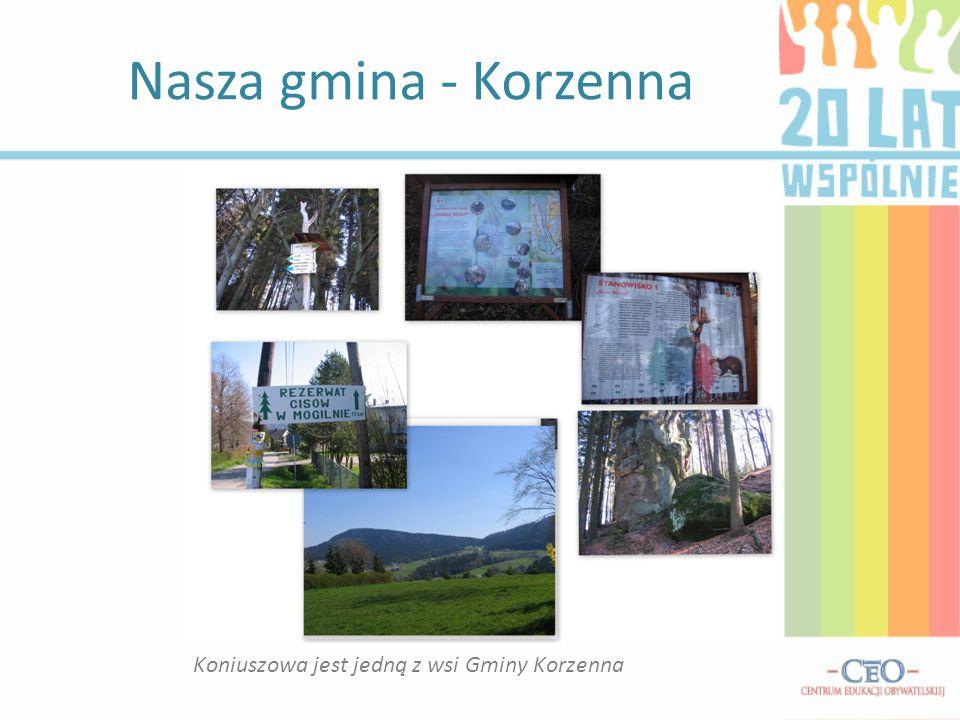 Koniuszowa jest jedną z wsi Gminy Korzenna