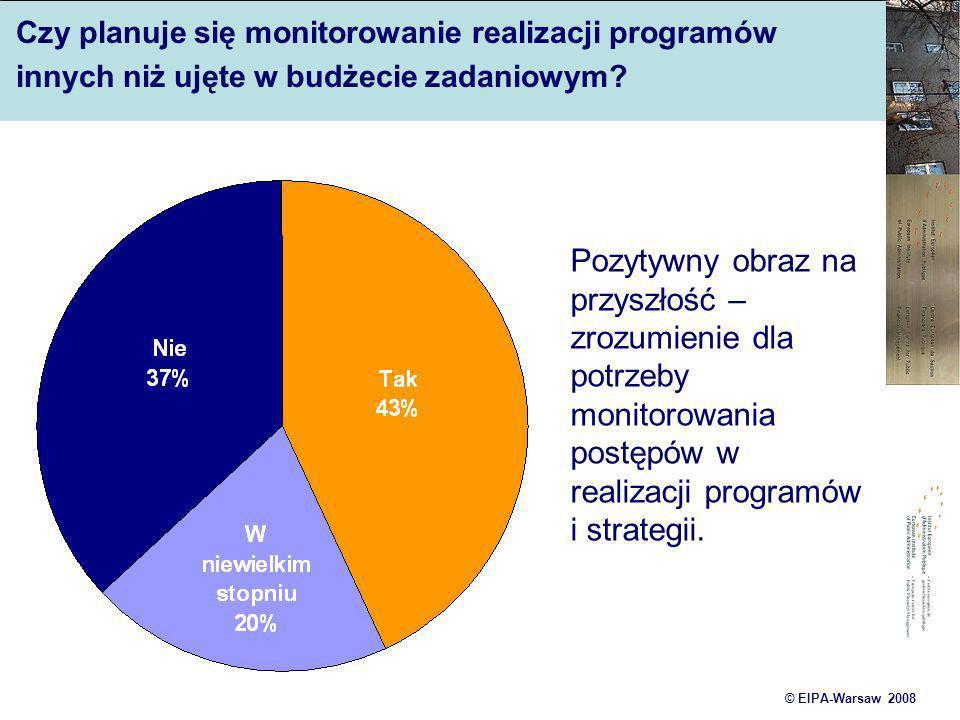 Czy planuje się monitorowanie realizacji programów innych niż ujęte w budżecie zadaniowym