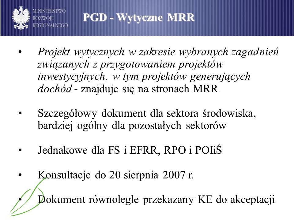 PGD - Wytyczne MRR