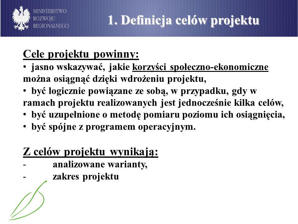 1. Definicja celów projektu