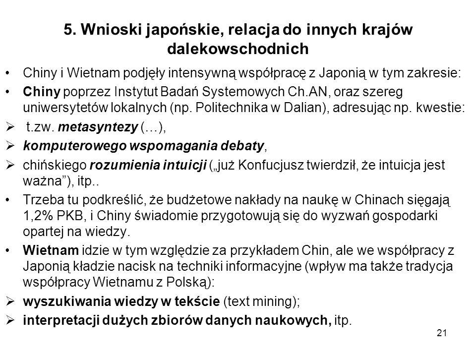 5. Wnioski japońskie, relacja do innych krajów dalekowschodnich