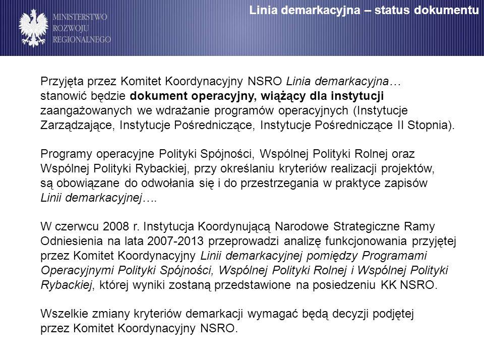Linia demarkacyjna – status dokumentu