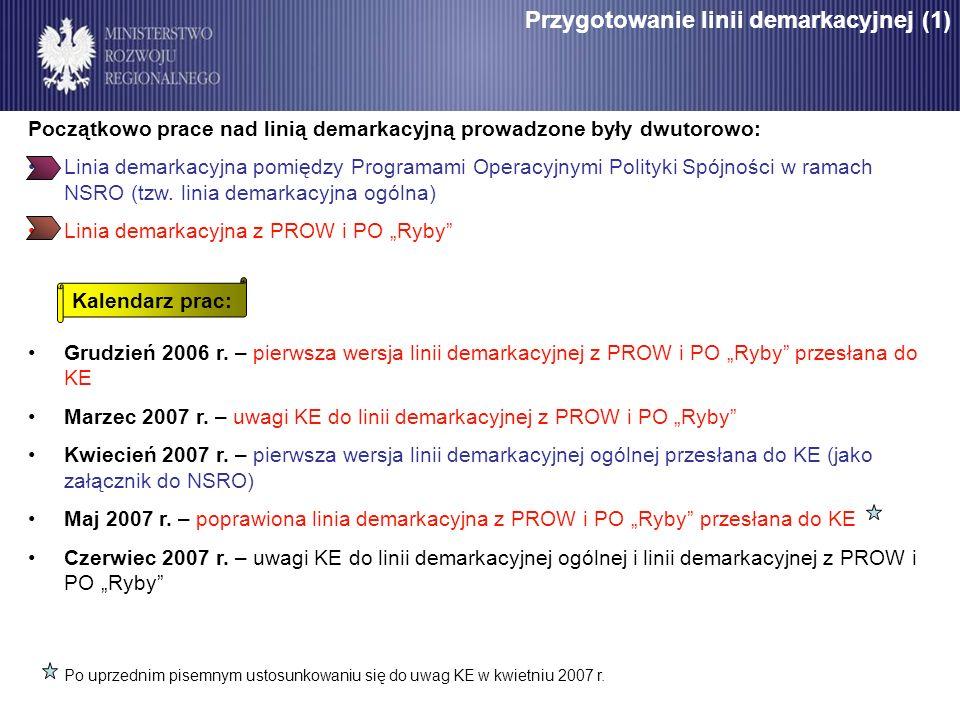 Przygotowanie linii demarkacyjnej (1)