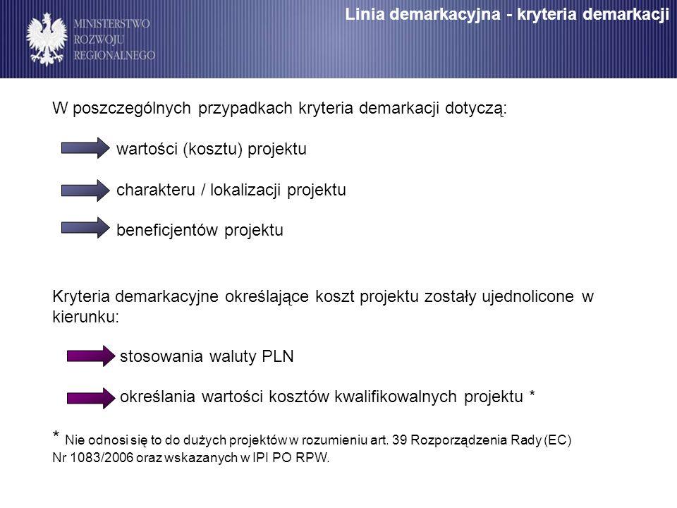 Linia demarkacyjna - kryteria demarkacji