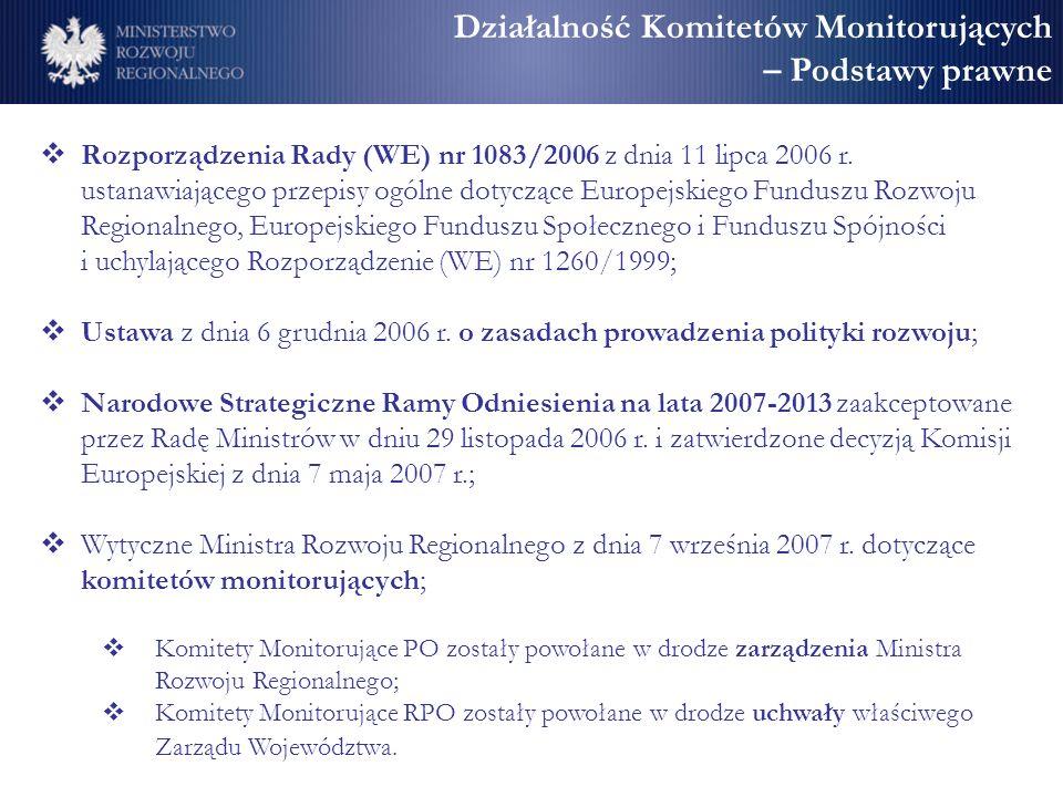 Działalność Komitetów Monitorujących – Podstawy prawne