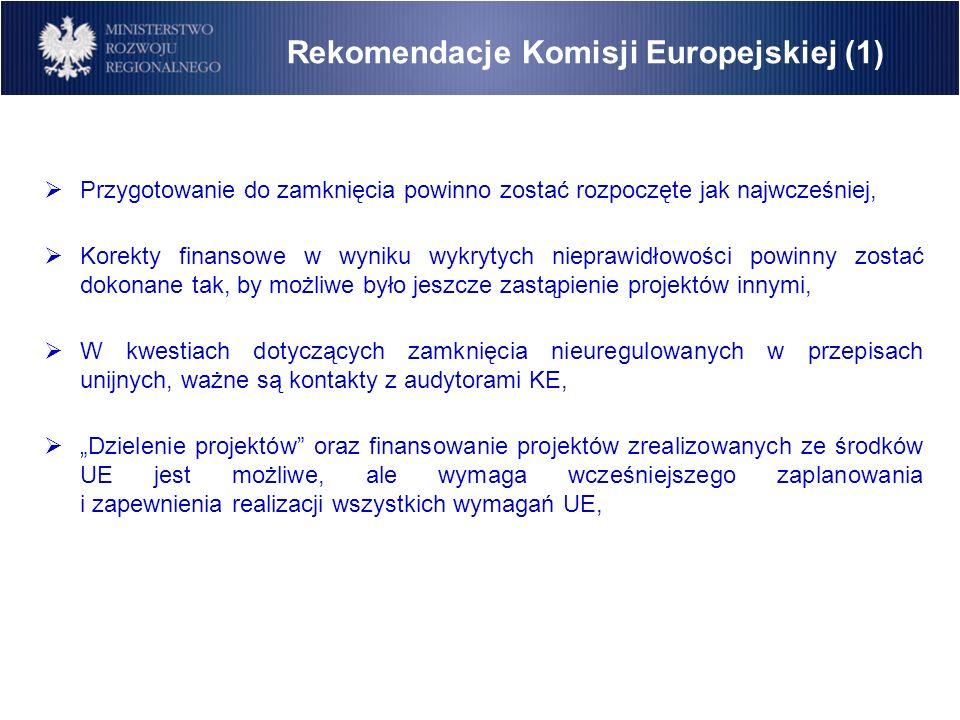 Rekomendacje Komisji Europejskiej (1)