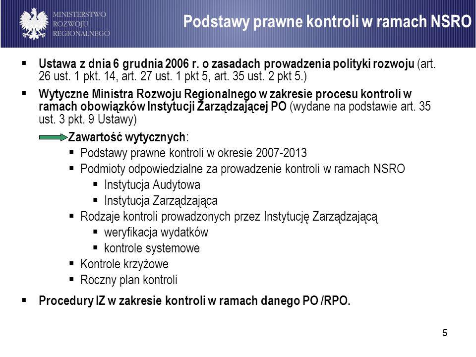 Podstawy prawne kontroli w ramach NSRO