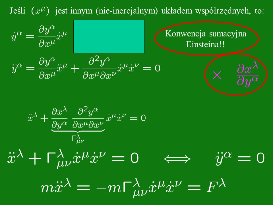 Konwencja sumacyjna Einsteina!.