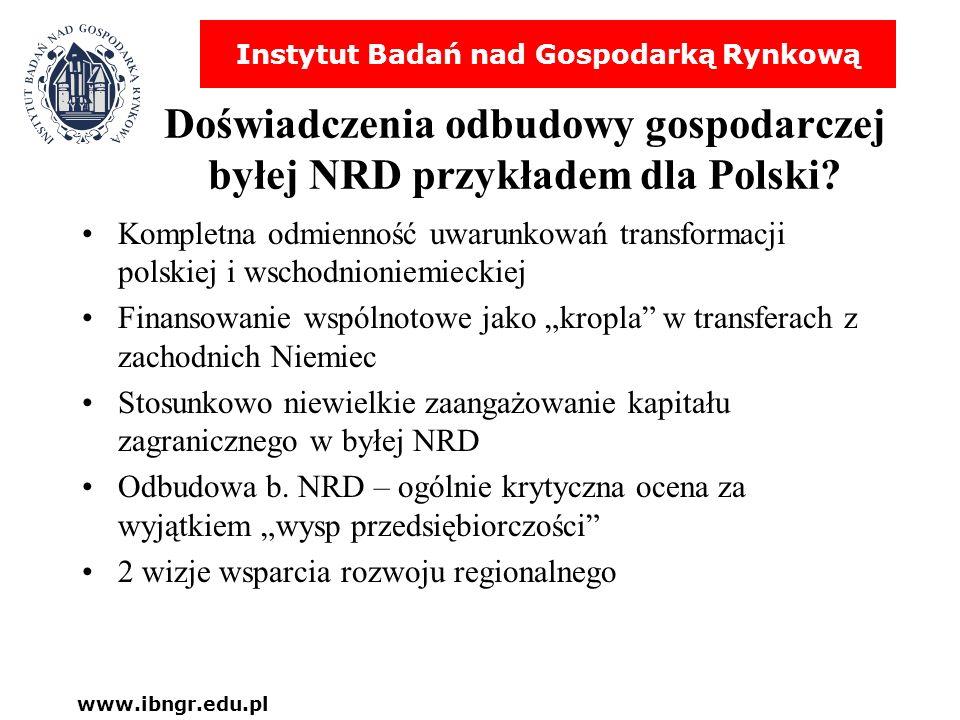 Doświadczenia odbudowy gospodarczej byłej NRD przykładem dla Polski