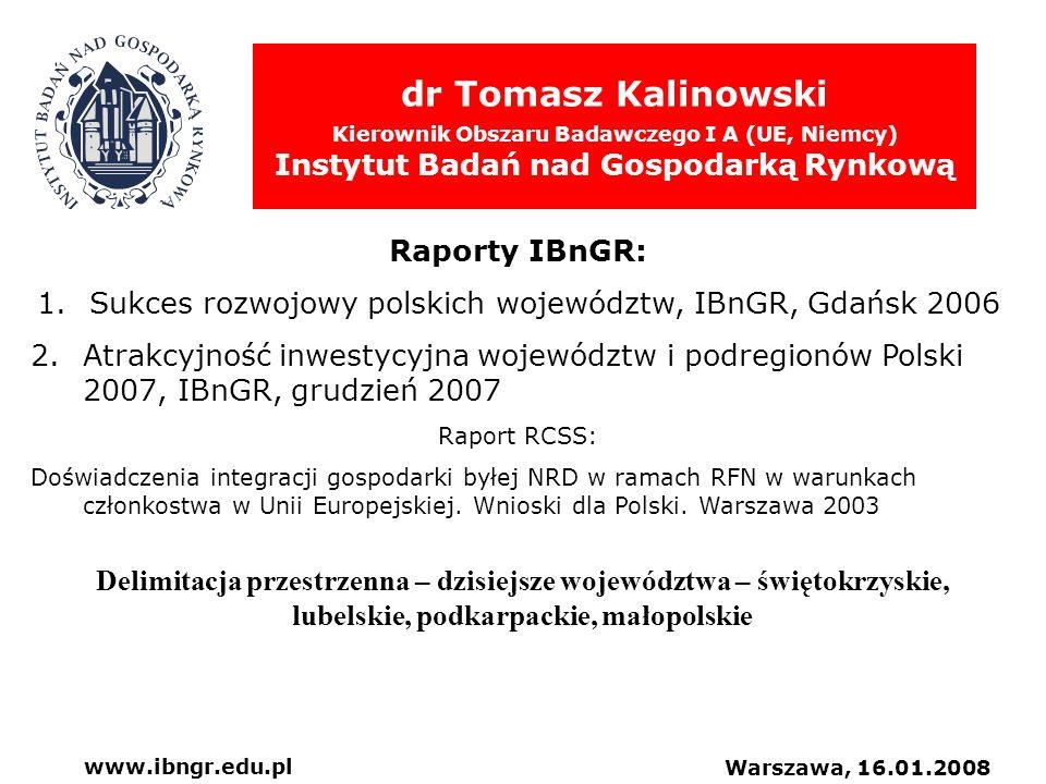 Sukces rozwojowy polskich województw, IBnGR, Gdańsk 2006