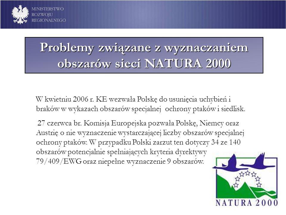 Problemy związane z wyznaczaniem obszarów sieci NATURA 2000