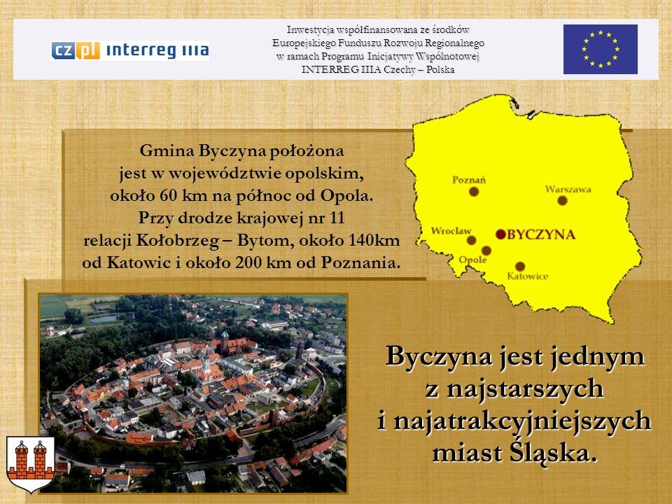 Inwestycja współfinansowana ze środków Europejskiego Funduszu Rozwoju Regionalnego w ramach Programu Inicjatywy Wspólnotowej INTERREG IIIA Czechy – Polska