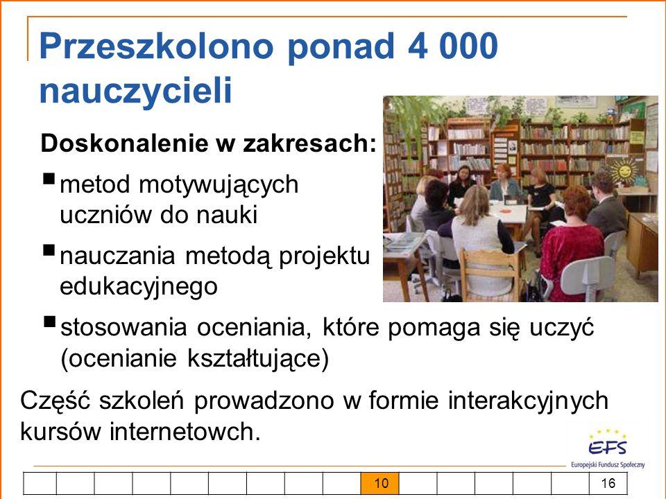 Przeszkolono ponad 4 000 nauczycieli