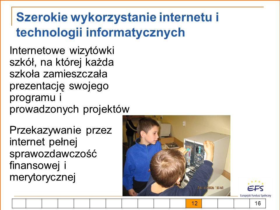 Szerokie wykorzystanie internetu i technologii informatycznych