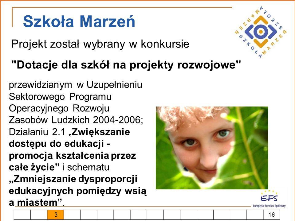 Szkoła Marzeń Projekt został wybrany w konkursie