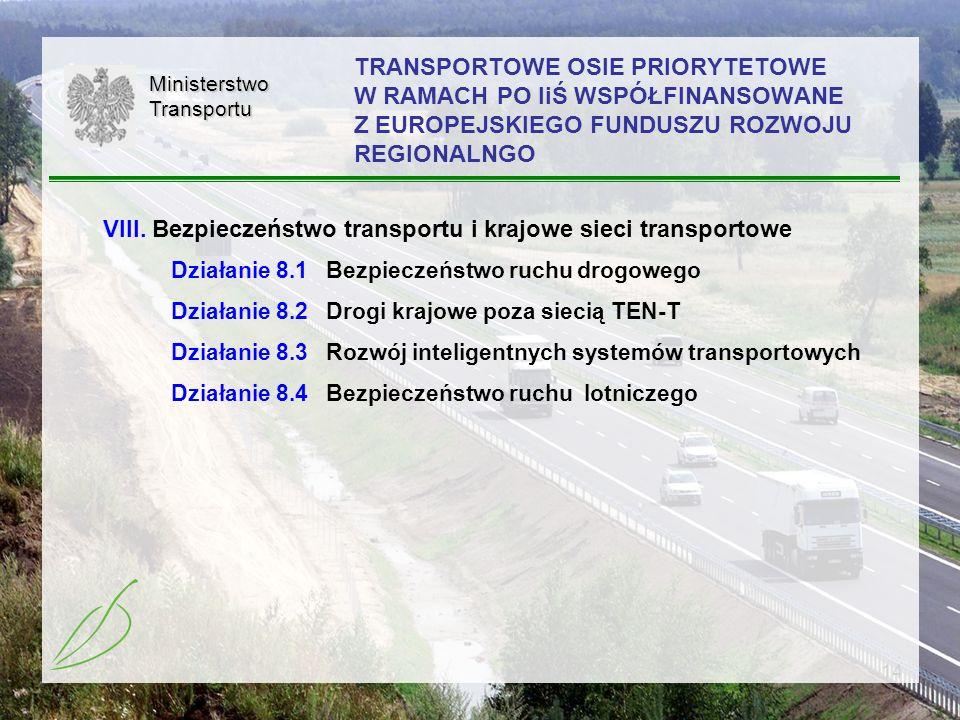 VIII. Bezpieczeństwo transportu i krajowe sieci transportowe