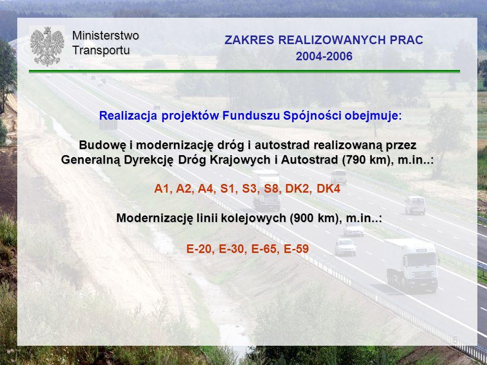 ZAKRES REALIZOWANYCH PRAC 2004-2006