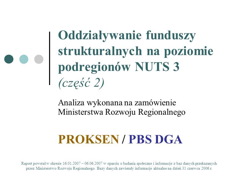 Oddziaływanie funduszy strukturalnych na poziomie podregionów NUTS 3 (część 2)