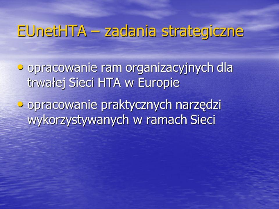 EUnetHTA – zadania strategiczne