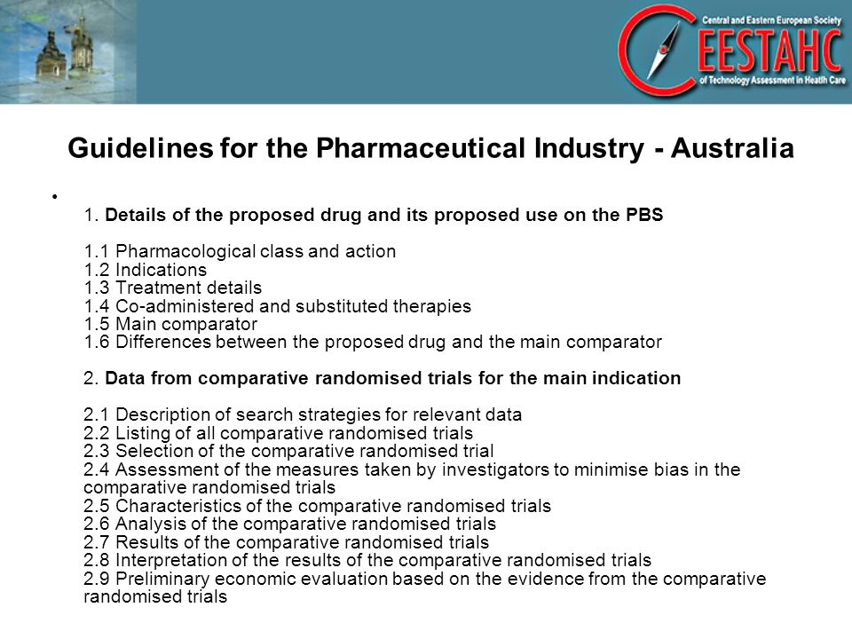 Guidelines for the Pharmaceutical Industry - Australia