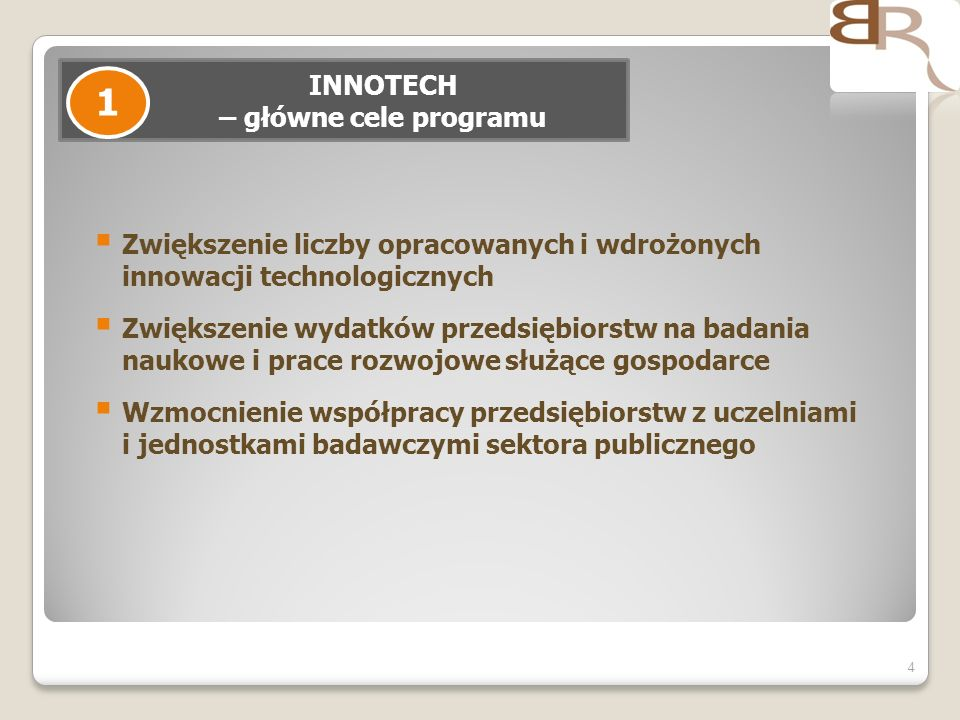 INNOTECH – główne cele programu
