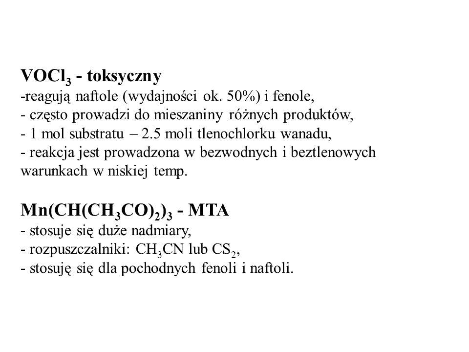 VOCl3 - toksyczny Mn(CH(CH3CO)2)3 - MTA