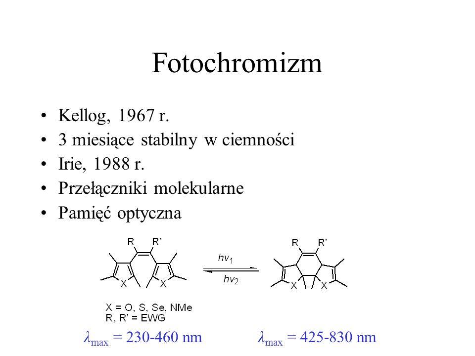 Fotochromizm Kellog, 1967 r. 3 miesiące stabilny w ciemności