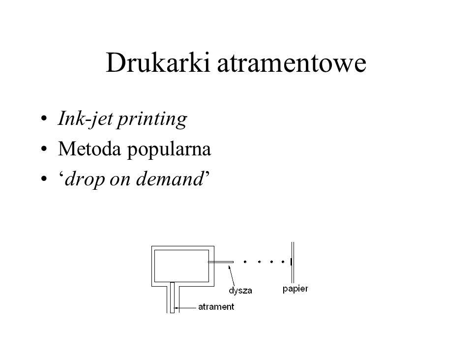 Drukarki atramentowe Ink-jet printing Metoda popularna