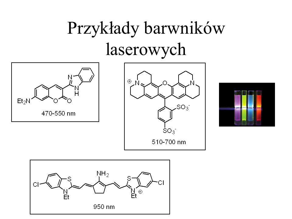 Przykłady barwników laserowych