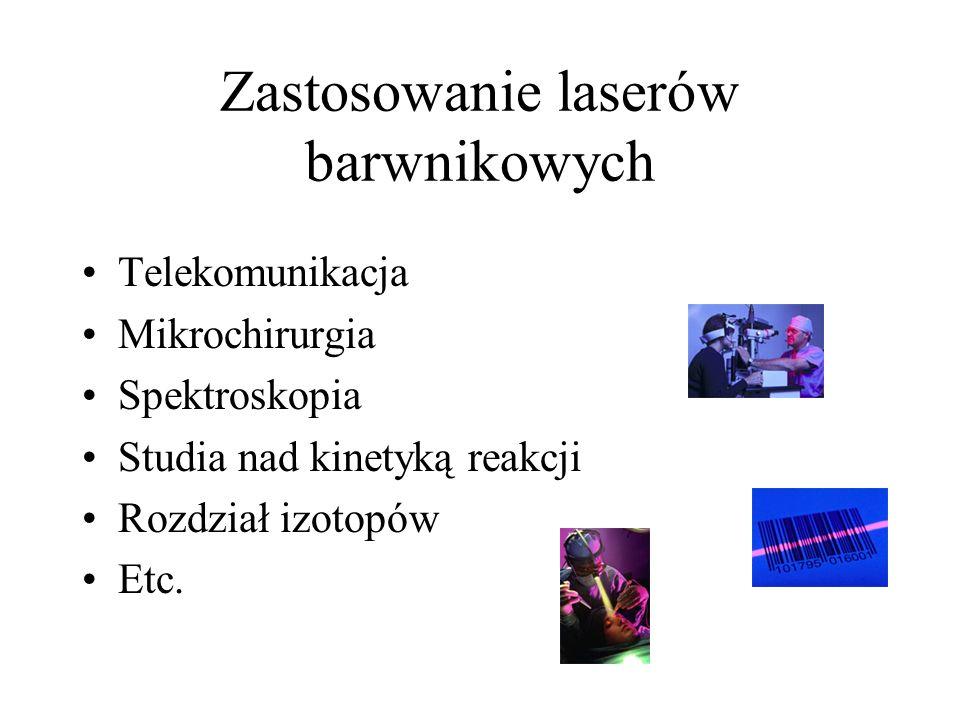 Zastosowanie laserów barwnikowych