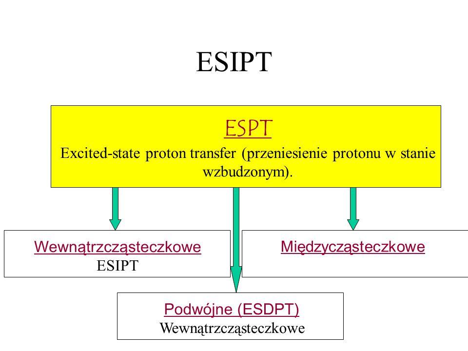 ESIPT ESPT. Excited-state proton transfer (przeniesienie protonu w stanie. wzbudzonym). Wewnątrzcząsteczkowe.