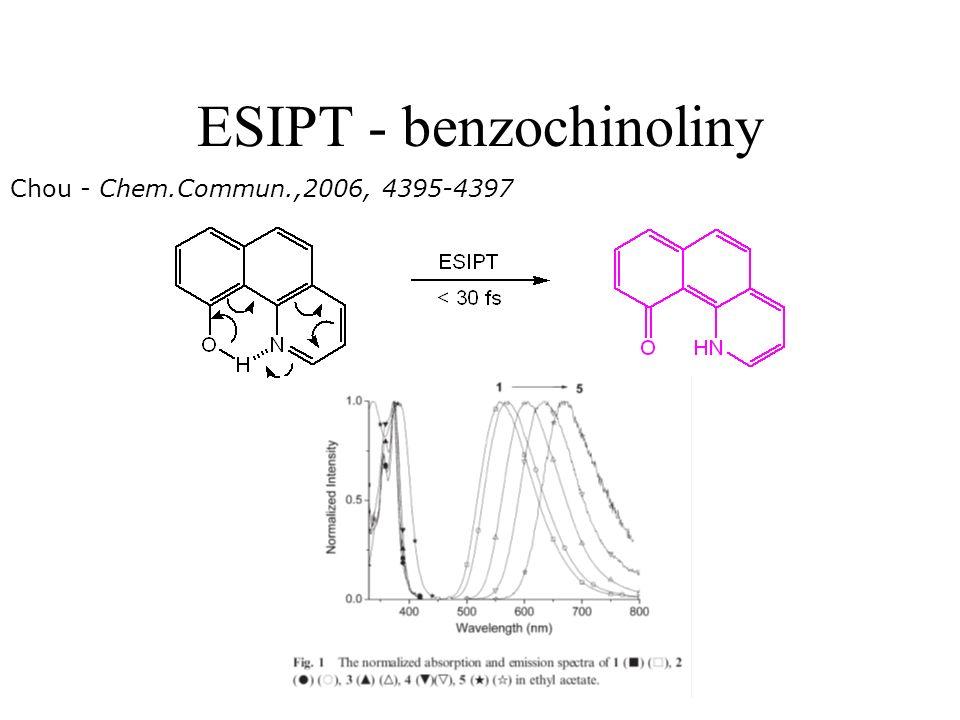 ESIPT - benzochinoliny