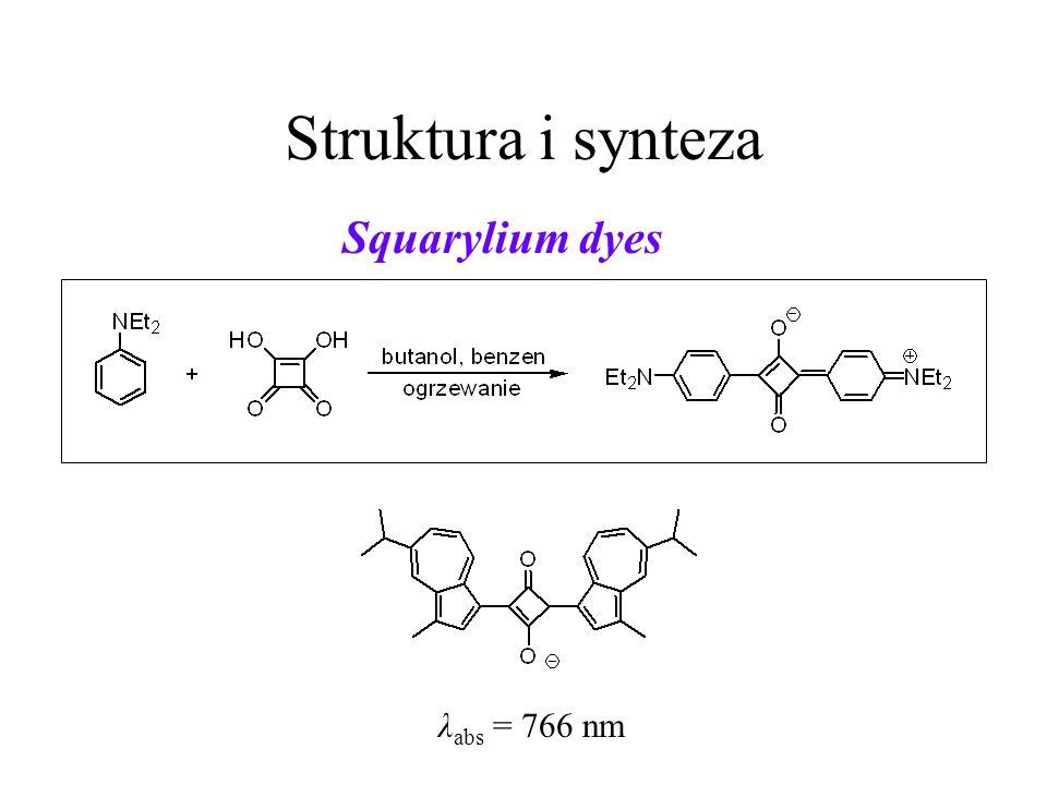 Struktura i synteza Squarylium dyes λabs = 766 nm