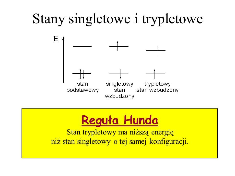 Stany singletowe i trypletowe