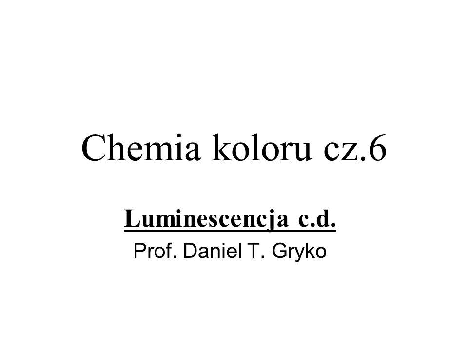 Luminescencja c.d. Prof. Daniel T. Gryko