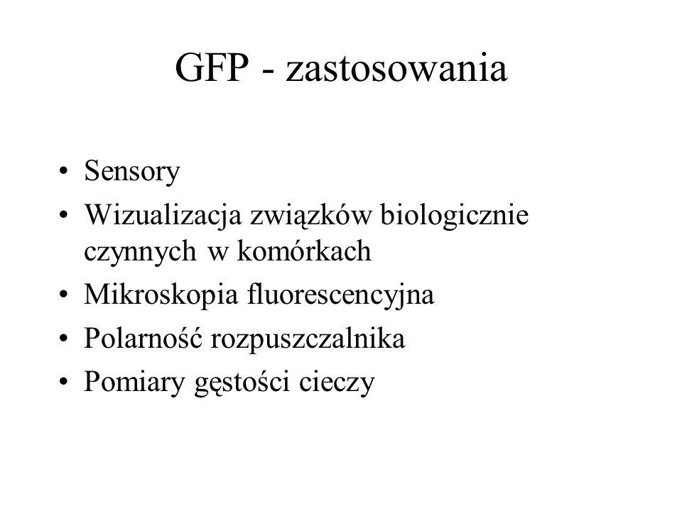 GFP - zastosowania Sensory