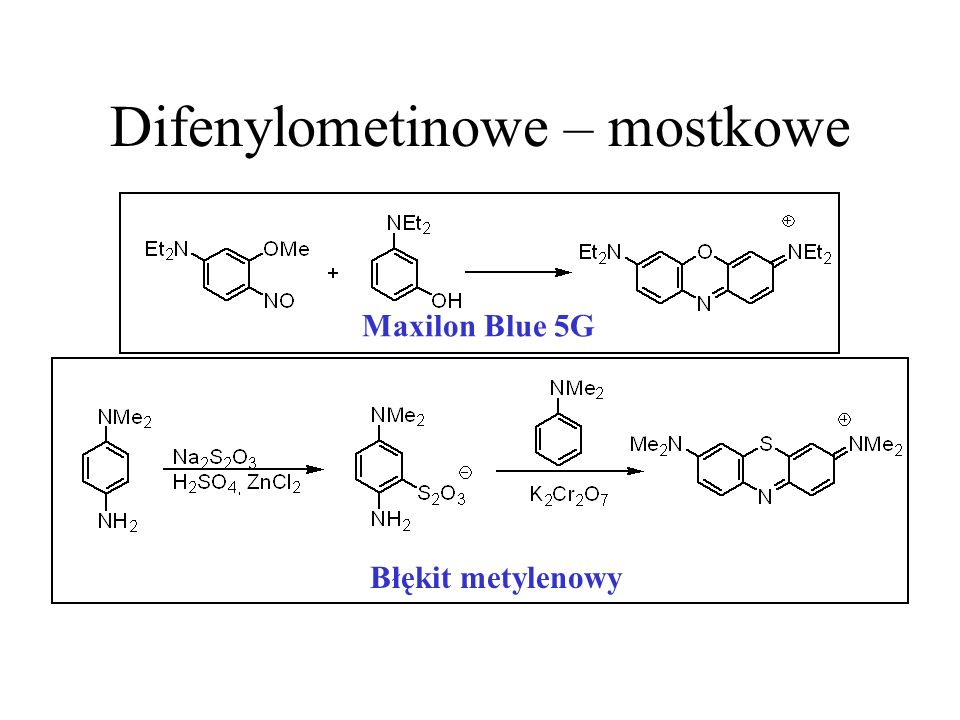 Difenylometinowe – mostkowe