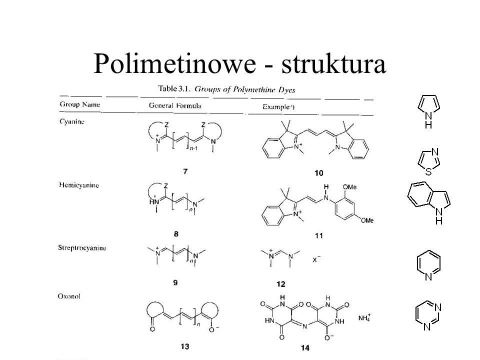 Polimetinowe - struktura