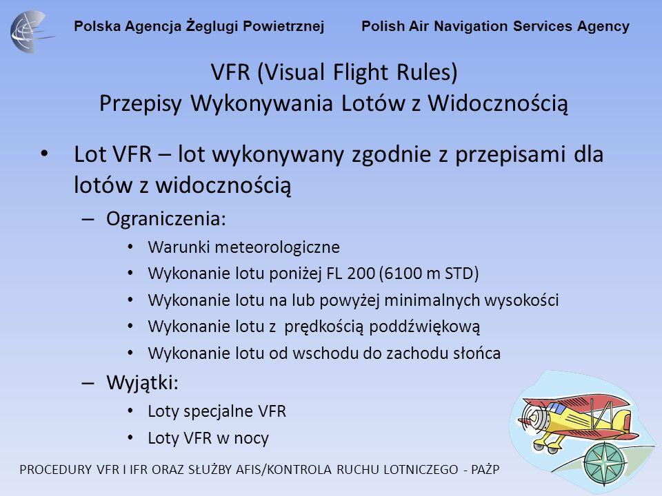 VFR (Visual Flight Rules) Przepisy Wykonywania Lotów z Widocznością