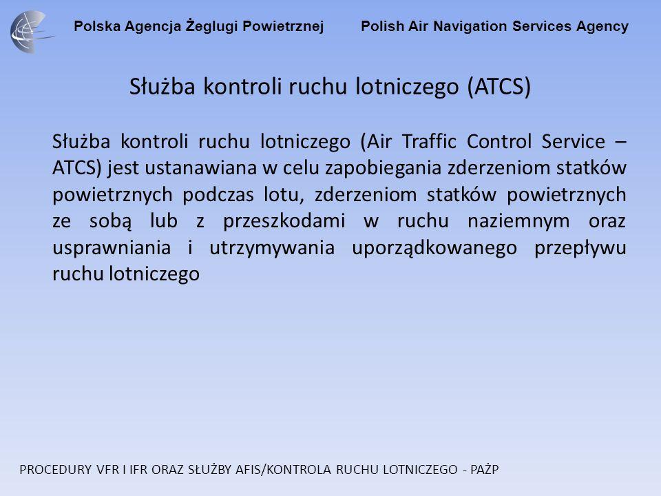 Służba kontroli ruchu lotniczego (ATCS)