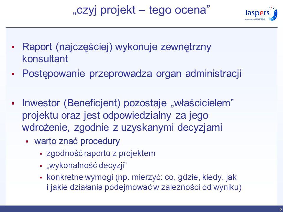 """""""czyj projekt – tego ocena"""