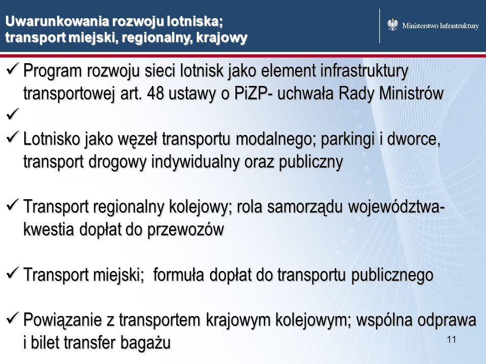 Transport miejski; formuła dopłat do transportu publicznego