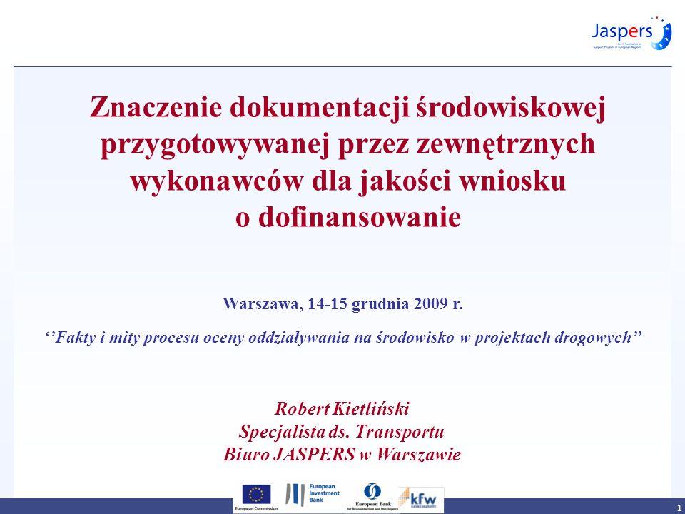 Specjalista ds. Transportu Biuro JASPERS w Warszawie