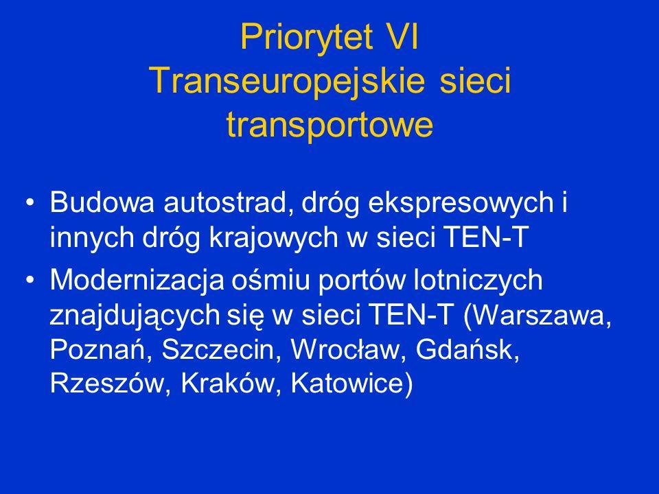 Priorytet VI Transeuropejskie sieci transportowe