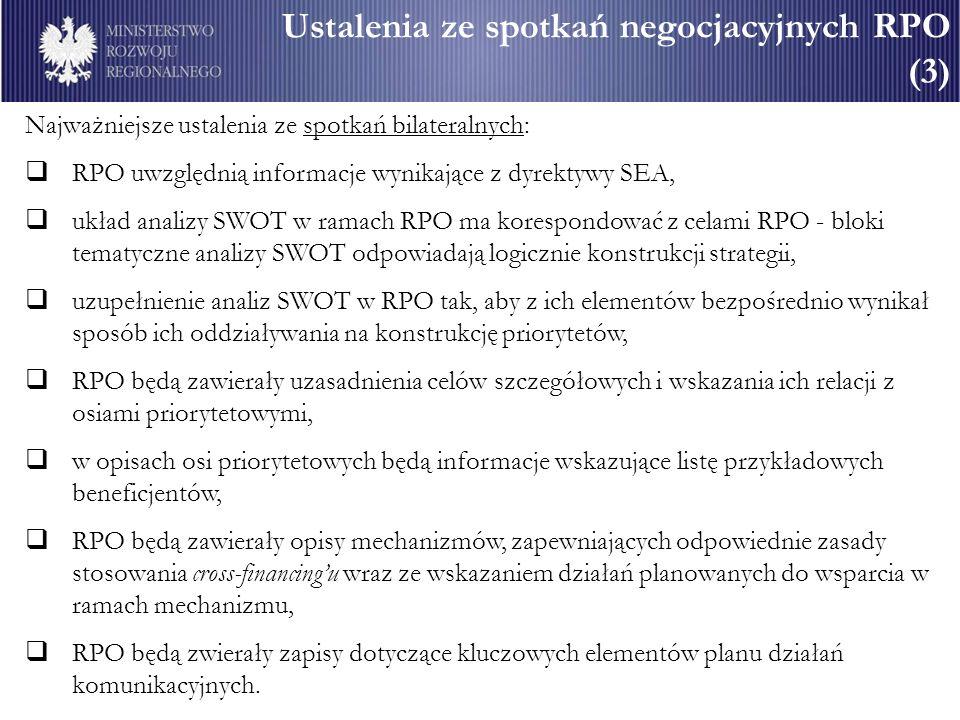Ustalenia ze spotkań negocjacyjnych RPO (3)