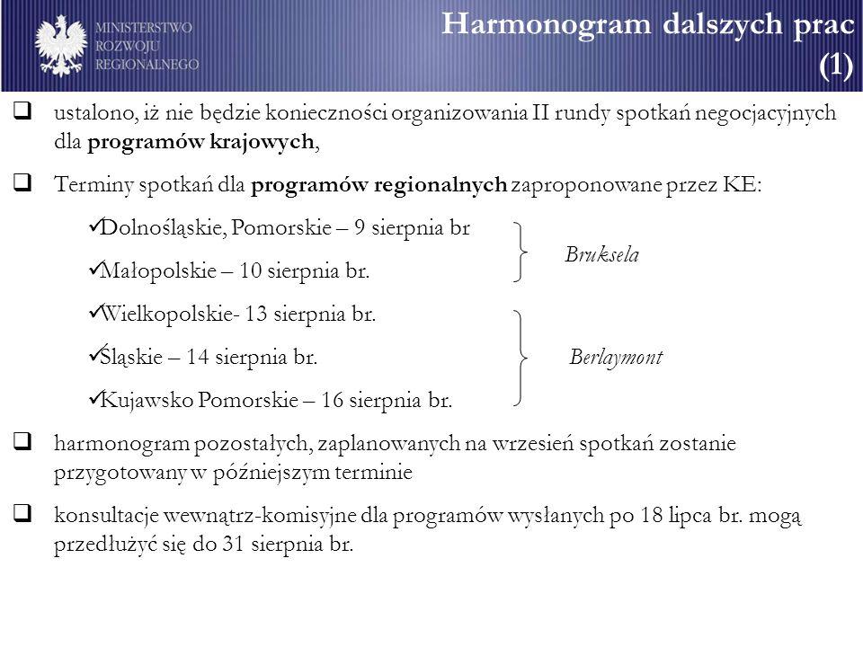 Harmonogram dalszych prac (1)